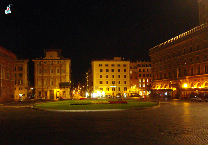 noshten ploshtad Venecia - Rim, Italia