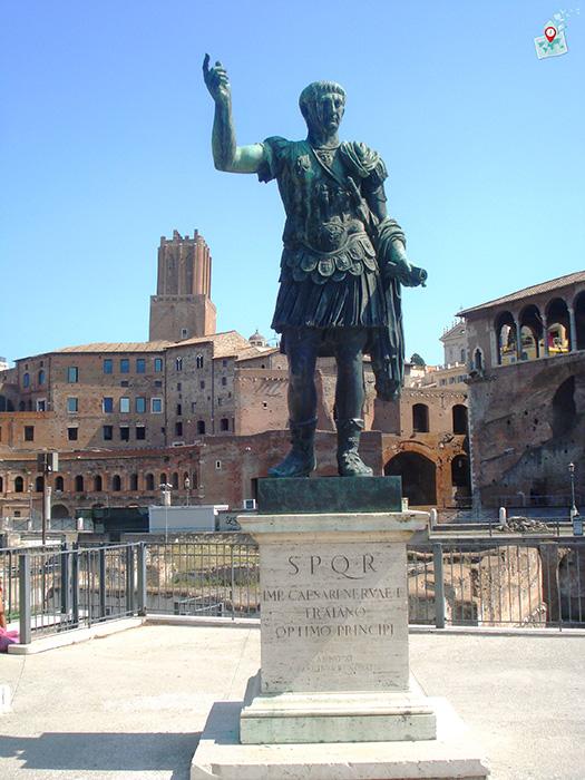imperator Trayan, Rim, Italia