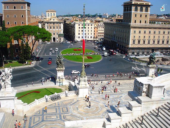 dneven  ploshtad Venecia - Rim, Italia